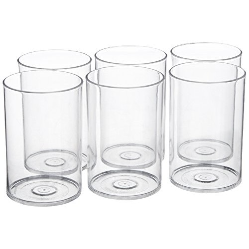 Signoraware Crystal Clear Glass Set, 280ml, Set of 6, Clear