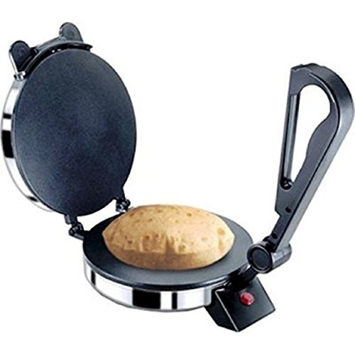 """BAJAJ VACCO 900W """"Go-Ezzee"""" Non-Stick Chapati Maker C-02 (Silver)"""