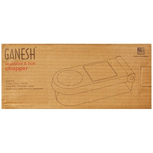 Ganesh Vegetable & Fruit Chopper Cutter With Chop Blade & Cleaning Tool,White