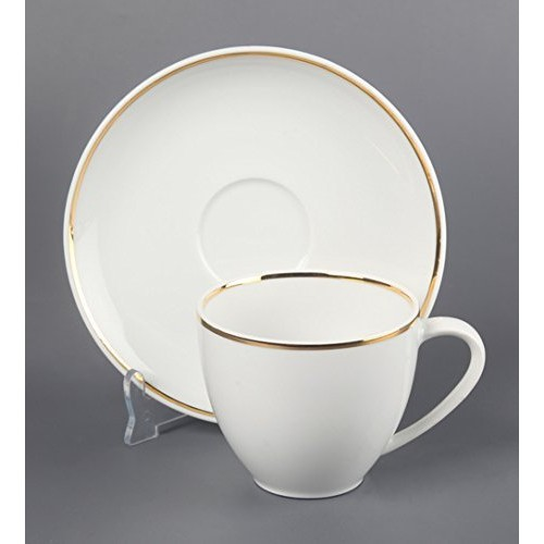 ivook Tableware Serving White Dotted Tea Coffee Cups Saucer Set 12 Pcs