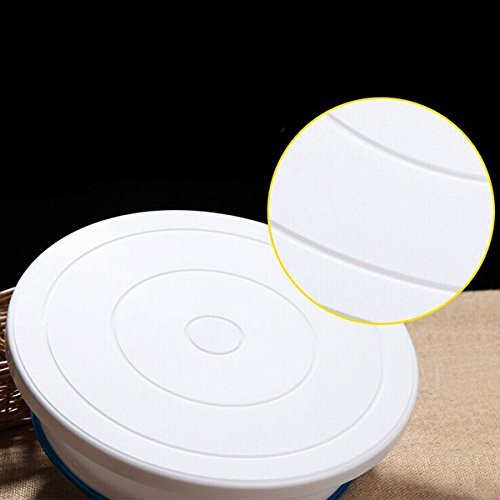 Okayji Plastic Cake Decorating Turntable, 28cm, White
