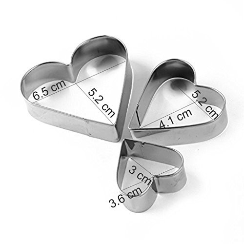 SYGA 12 Pieces Cookie Cutter Silver Stainless Steel Cookie Cutter With 4 Shape