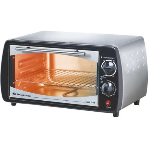 BAJAJ 10-Litre Majesty 1000TSS Oven Toaster Grill (OTG) (Black/Stainless Steel)
