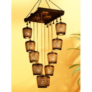 Buy Exclusivelane Cylindrical Metal Hanging Lamp Shades 6 Shades Chandelier Ceiling Lamp