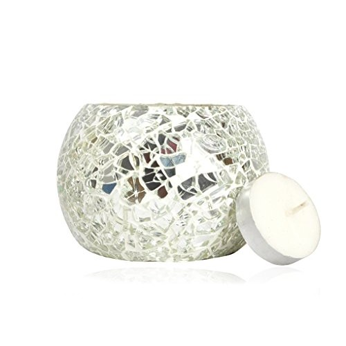 Lalhaveli Home Decoration Votive Tea Light Silver Candle Holder For Diwali 3 X 4 Inches (Candle Included)