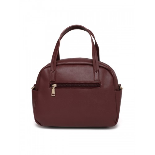 Caprese Maroon Embellished Handheld Bag