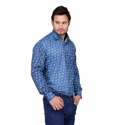 Puffz Blue Casual Shirt