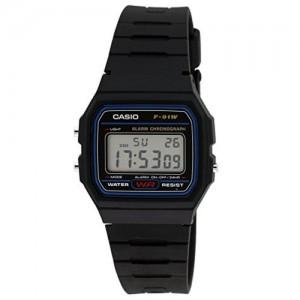 Casio F-91W-1DG D002 Black Resin Digital Dial Watch