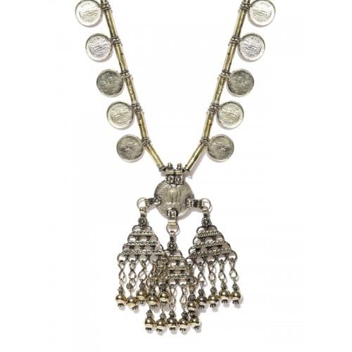 Infuzze Infuzze Oxidised Gold Toned Necklace Alloy Necklace