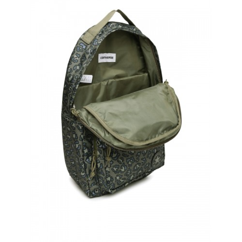 ea9f8b3b2b4998 Buy Converse Unisex Olive Green   Navy Graphic Print Backpack online ...