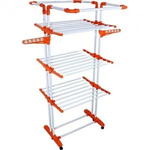 Uberlyfe Blyssware Cloth Dryer Stand / 4 Pole Cloth Stand - King Jumbo Orange,(Cp-001206-Kgjmbo)