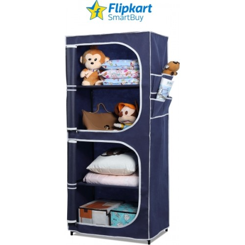 a4cf2dba820 Buy Flipkart SmartBuy 2 Door 4 Shelf PP Collapsible Wardrobe online ...