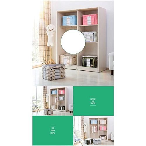 ShopAIS Living Box - Storage Boxes for Clothes, Shirts, Saree Cover - 56 Litre, Pack of 1 - Violet