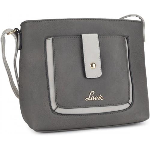 Buy Lavie Women Casual Grey PU Sling Bag online  ef2f50a7783c9