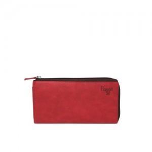 Baggit Women Red Solid Zip Around Wallet