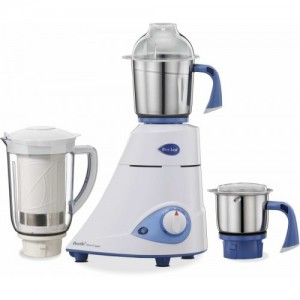 Preethi Blue leaf Platinum select 750 W Mixer Grinder(White, 3 Jars)