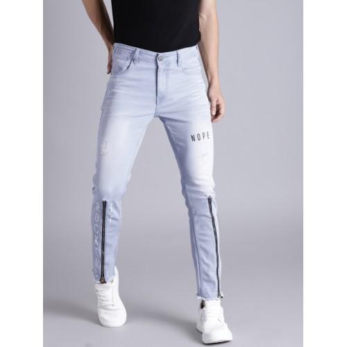 Kook N Keech Men Blue Skinny Fit Mid-Rise Mildly Distressed Stretchable Jeans