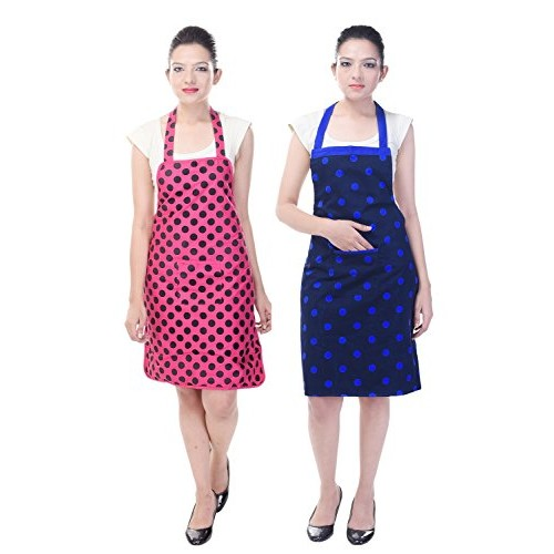 Branded Waterproof Cotton Kitchen Apron Pack of 2