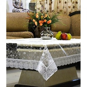 340eecdb37d Buy Kuber Industries White Cotton Dining Table Cover for 6 Seater ...