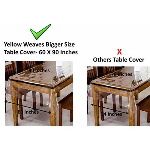 Yellow Weaves Plaid 6 Seater Table Cover
