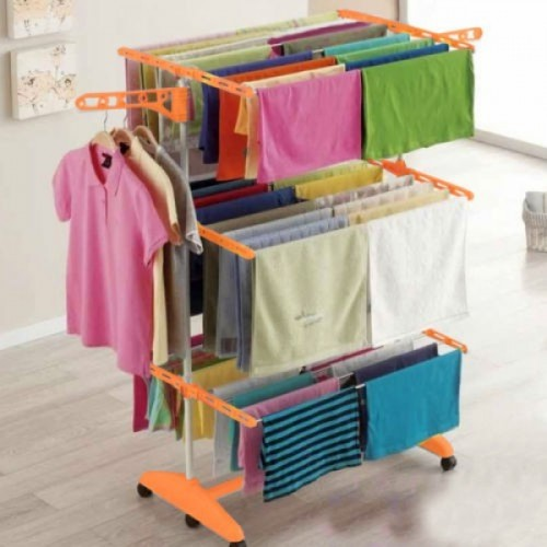 Easy 2 Poll extra heavy double layer Plastic Floor Cloth Dryer Stand