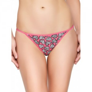 Blush by PrettySecrets Women Pink Printed Thong Briefs PS0517GST03