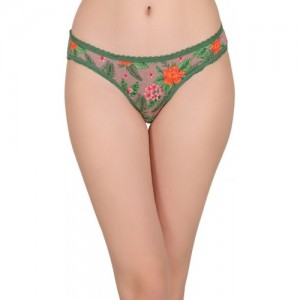 Clovia Women's Bikini Green Panty(Pack of 1)