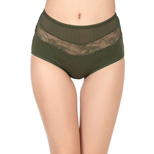 97e02727981 Buy Clovia Women s Cotton High Waist Hipster With Lace Panels online ...