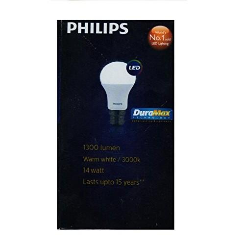 Philips Base B22 14-Watt LED Bulb (Warm White,Pack of 2)