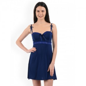 Sweet Dreams Navy Blue Solid Baby Doll BD1978