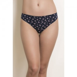Zivame Low Rise Bikini Brief- Blue N Print