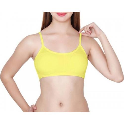 FILBA Girl's, Women's Full Coverage Lightly Padded Bra(Yellow)