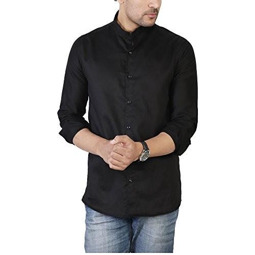 U-TURN Men's Chinese Collar Shirt