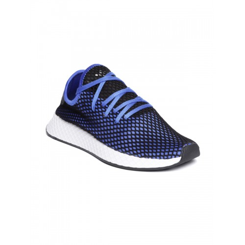 sale retailer 0330e afd08 ... Adidas Originals Men Blue   Black DEERUPT Runner Sneakers ...