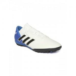 Adidas Men White   Blue NEMEZIZ Messi Tango 18.3 Turf Boots Football Shoes 3e2c2ae949a