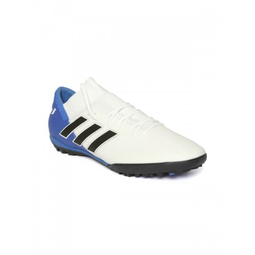 9e0273abeed4 ... Adidas Men White   Blue NEMEZIZ Messi Tango 18.3 Turf Boots Football  Shoes ...