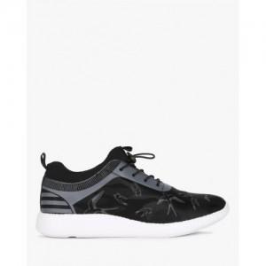 AJIO Camo Print Low-Top Sneakers with Toggle Closure