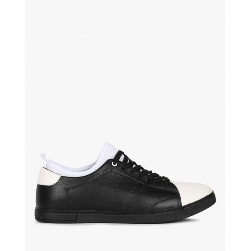5bad0e7561188a Buy AJIO Low-Top Lace-Up Panelled Sneakers online