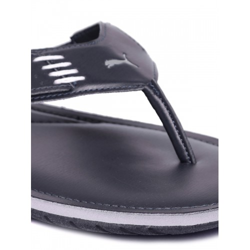Puma Men Navy Blue Solid Thong Flip-Flops