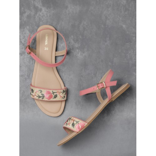 Buy Anouk Women Pink Embroidered Open