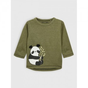 next Boys Khaki Printed Round Neck T-shirt