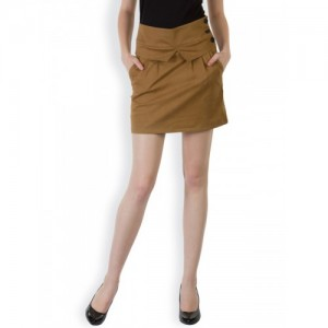 Rider Republic Brown A-Line Skirt
