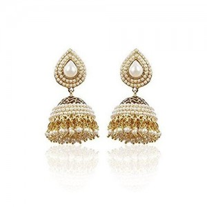 9f7d5f2f4 YouBella Jewellery Earings Traditional Gold Plated Fancy Party Wear Jhumka    Jhumki Earrings for Girls and