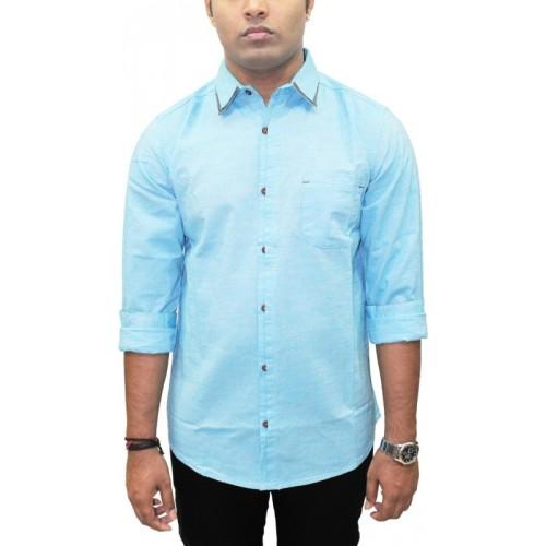 Kuons Avenue Men's Solid, Self Design Casual English Collar Shirt
