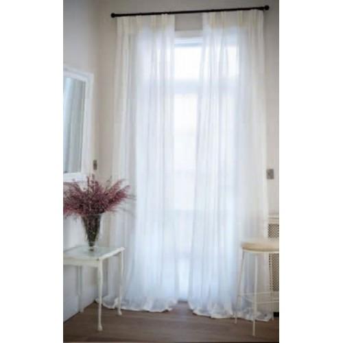Kuber Industries PVC Shower Curtain 210 cm (7 ft) Single Curtain(Plain White)