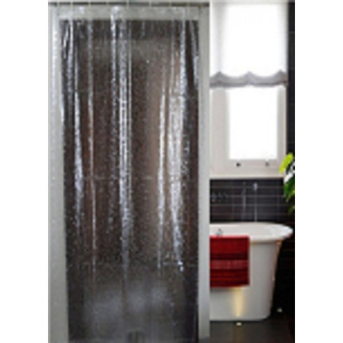 Kuber Industries Pvc Shower Curtain 270 Cm 9 Ft Single Plain White