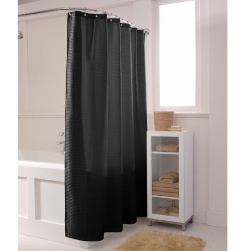 Linenwalas PVC Shower Curtain 198 Cm (6 Ft) Single Curtain(Self Design Gray
