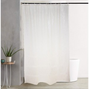 Katwa Clasic PVC Shower Curtain 198 Cm (6 Ft) Single Curtain(Self Design
