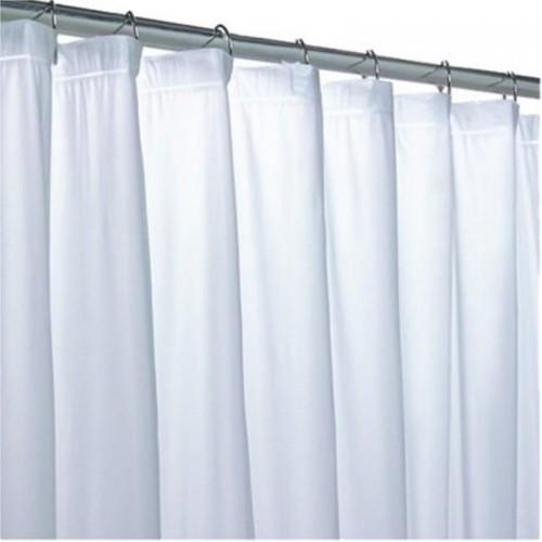 Kuber Industries PVC Shower Curtain 210 Cm 7 Ft Single CurtainPlain White