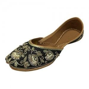 b2cb53821271 Step n Style Punjabi Jutti Khussa Shoes Flat Traditional Shoes Bridal Shoes  Mojari